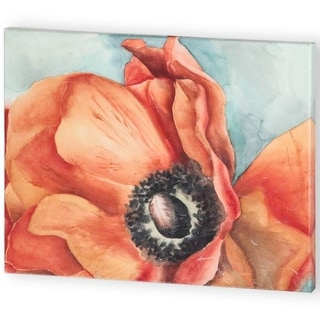 Mercana Watercolor Poppy 1 (54 X 42) Made to Order Canvas Art