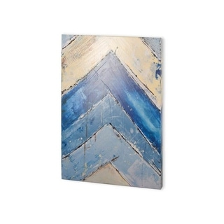 Mercana Blue Zag II (30 x 40) Made to Order Canvas Art