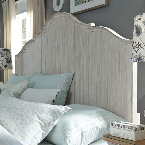 Farmhouse Reimagined Antique White Queen Panel Headboard