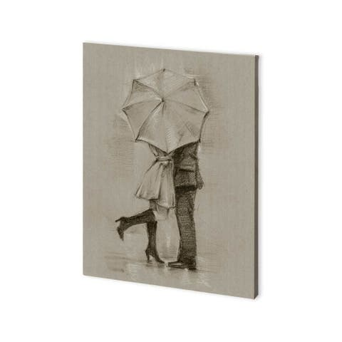 Mercana Rainy Day Rendevous III (30 x 40) Made to Order Canvas Art