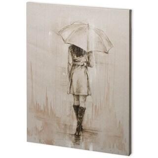 Mercana Rainy Day Rendevous I (44 x 58) Made to Order Canvas Art