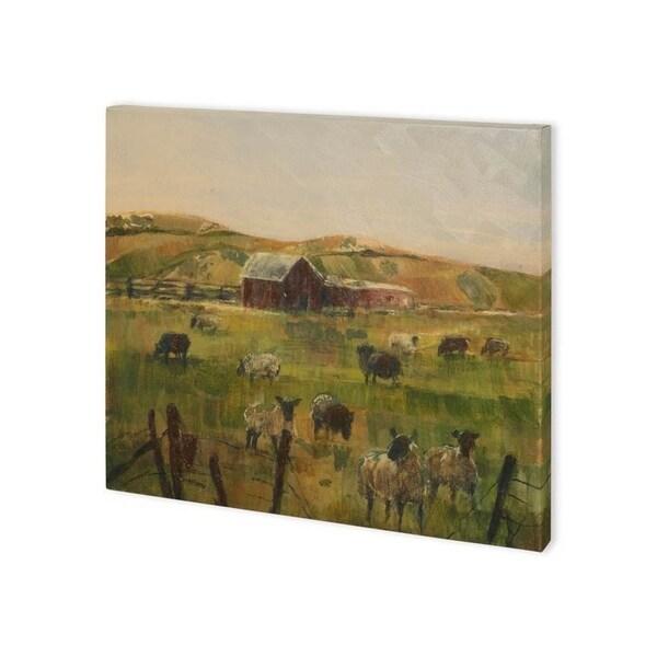 Mercana Grazing Sheep II (40 x 30) Made to Order Canvas Art