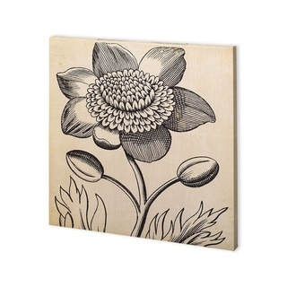 Mercana Graphic Floral III (30 x 30) Made to Order Canvas Art