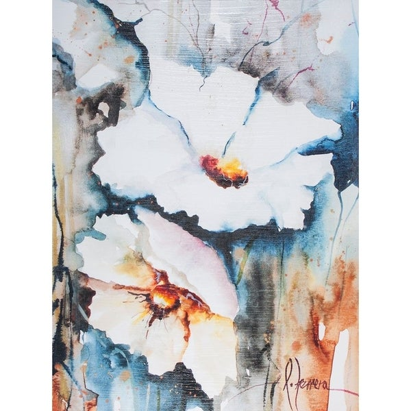 Mercana Blooms Aquas II (30 X 40) Made to Order Canvas Art