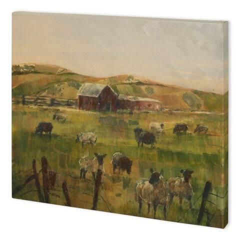Mercana Grazing Sheep II (58 x 44) Made to Order Canvas Art