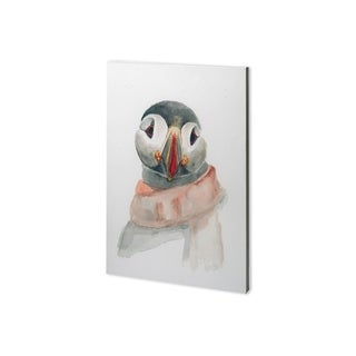 Mercana Winter Puffin II (26 x 38) Made to Order Canvas Art