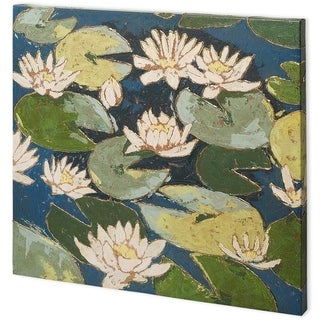 Mercana Water Flowers I (44 x 44) Made to Order Canvas Art