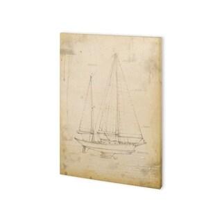 Mercana Sailboat Blueprint VI (30 x 40) Made to Order Canvas Art