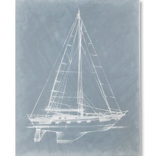Mercana Yacht Sketches II (MC) (38 X 48) Made to Order Canvas Art