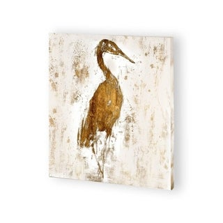 Mercana Gilded Heron I (30 x 30) Made to Order Canvas Art