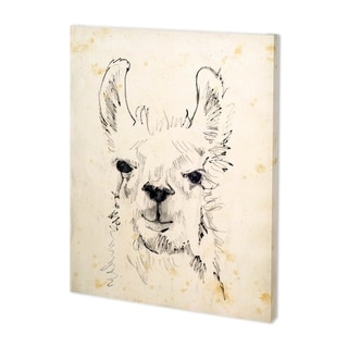 Mercana Llama Portrait I (38 x 48) Made to Order Canvas Art