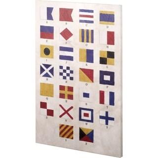 Mercana Nautical Alphabet (26 x 38) Made to Order Canvas Art