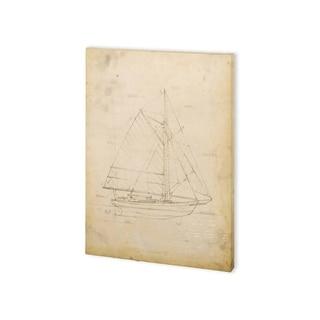 Mercana Sailboat Blueprint III (30 x 40) Made to Order Canvas Art