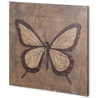 Mercana Textured Butterfly II (44 x 44) Made to Order Canvas Art