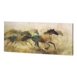 Mercana Horses, Wild And Free I (60 x 30 ) Made to Order Canvas Art