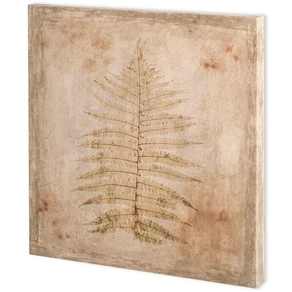 Mercana Stone Leaf I (44 x 44) Made to Order Canvas Art