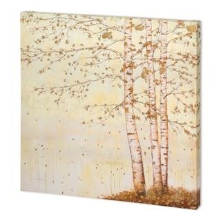 Mercana Golden Birch II Off White (44 x 44) Made to Order Canvas Art