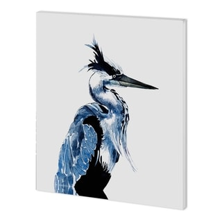 Mercana Coastal Blue Heron (40 x 50 ) Made to Order Canvas Art