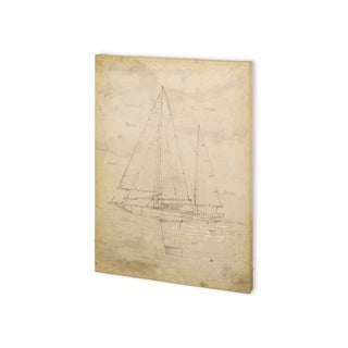 Mercana Sailboat Blueprint IV (30 x 40) Made to Order Canvas Art