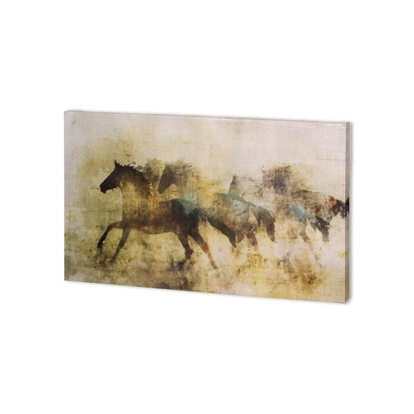 Mercana Horses, Wild And Free II (44 x 22 ) Made to Order Canvas Art