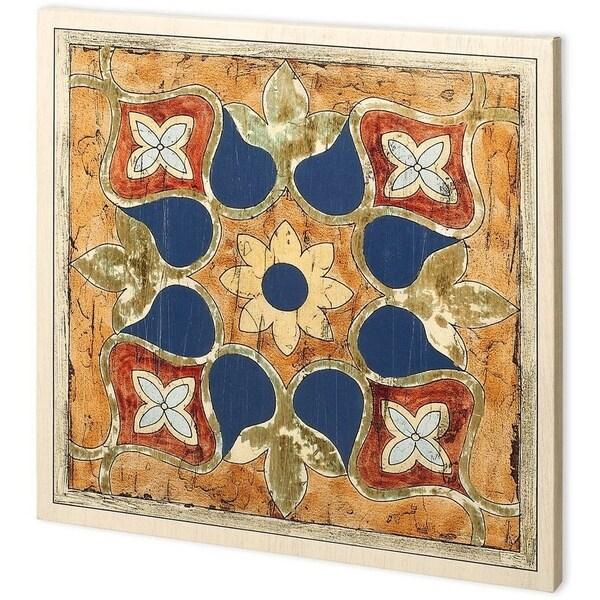 Mercana Vintage Woodblock II (44 x 44) Made to Order Canvas Art