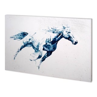 Mercana Sapphire Gallop I (58 x 38) Made to Order Canvas Art