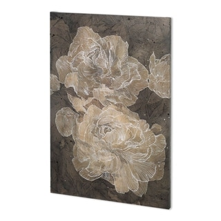 Mercana Weaved Peony I (36 x 54) Made to Order Canvas Art