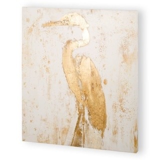 Mercana Gilded Heron II (44 x 44) Made to Order Canvas Art