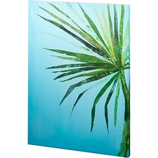 Mercana Summertime In Blue 1 (44 x 58) Made to Order Canvas Art