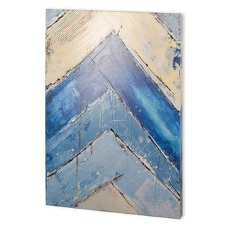Mercana Blue Zag II (41 x 55) Made to Order Canvas Art