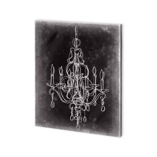 Mercana Chalkboard Chandelier Sketch IV (30 x 37) Made to Order Canvas Art