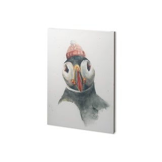 Mercana Winter Puffin I (26 x 38) Made to Order Canvas Art
