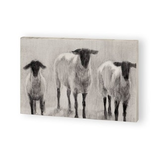 Mercana Rustic Sheep II (40 x 22) Made to Order Canvas Art
