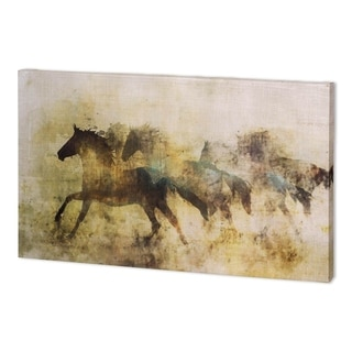 Mercana Horses, Wild And Free II (60 x 30 ) Made to Order Canvas Art