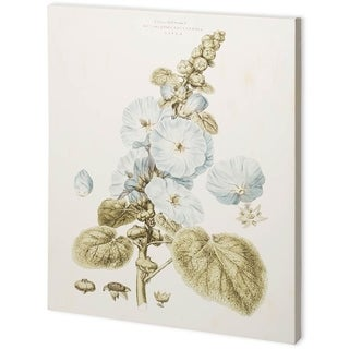 Mercana Bashful Blue Florals IV (44 x 55) Made to Order Canvas Art