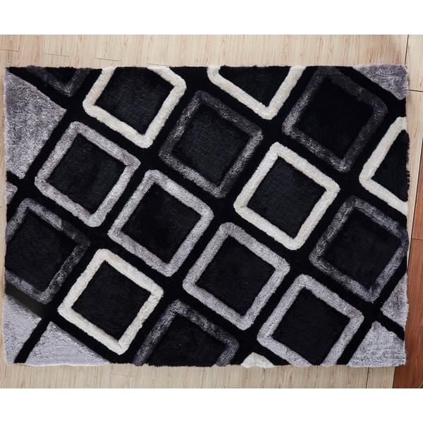 Black Contemporary 5x7 Rug - 5' x 7'