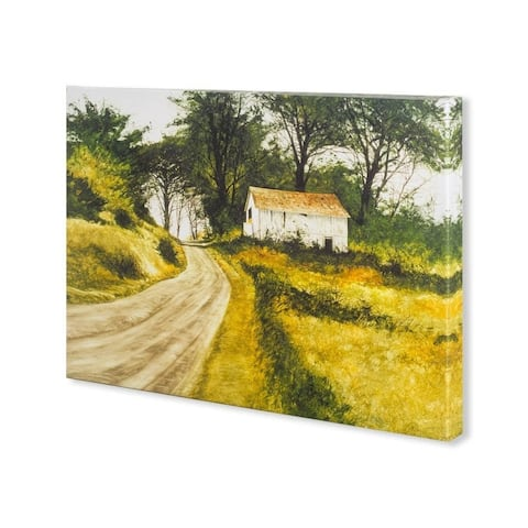 Mercana Hill Top Barn (30 x 22) Made to Order Canvas Art - Multi