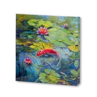 Mercana Vermillion Koi(30 X 30) Made to Order Canvas Art