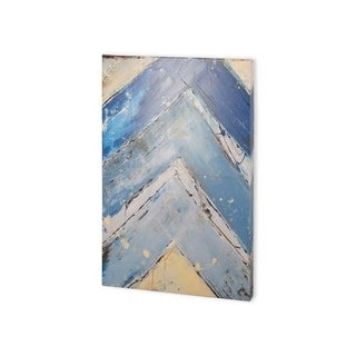 Mercana Blue Zag I (30 x 40) Made to Order Canvas Art