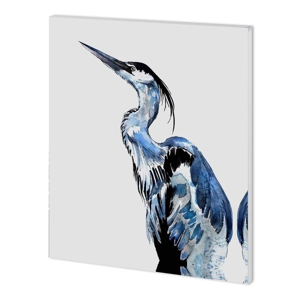 Mercana Coastal Blue Egret (40 x 50 ) Made to Order Canvas Art