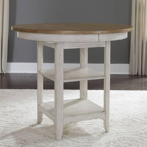 Farmhouse Reimagined Antique White Gathering Table - Chestnut