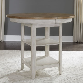 Farmhouse Reimagined Antique White Gathering Table - Chestnut/Antique White