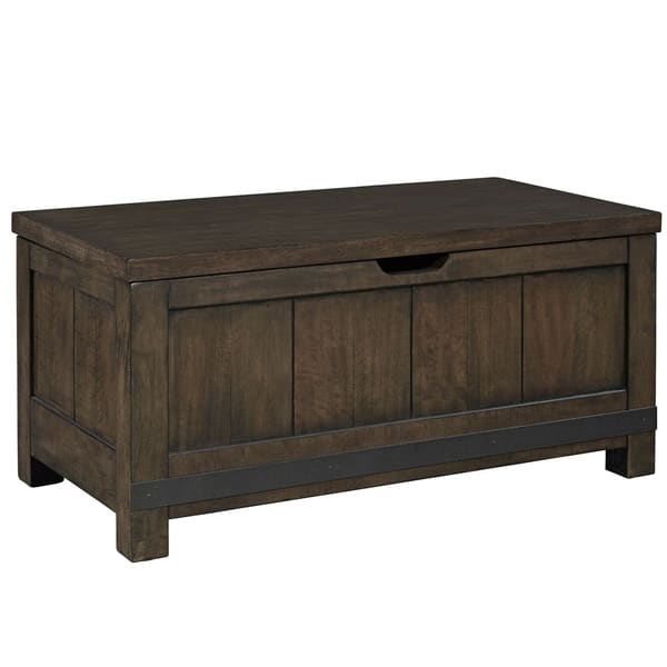 Shop Thornwood Hills Rock Beaten Grey With Saw Cuts Toy Chest