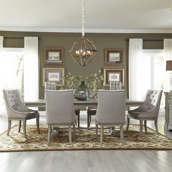 Salle A Manger Gris Taupe: Shop Grand Estates Grey Taupe And Antique Brown 7-piece