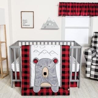 Peak-a-Bear 3 Piece Crib Bedding Set