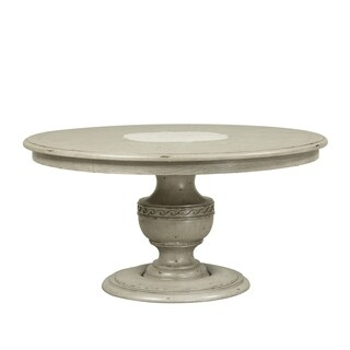 Grand Estates Grey Taupe Round Pedestal Table