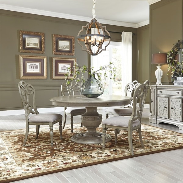 Salle A Manger Gris Taupe: Shop Grand Estates Grey Taupe And Antique Brown 5-piece