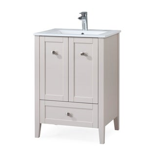 "25"" Tennant Brand Vermezzo Modern Small Taupe Bathroom Vanity"