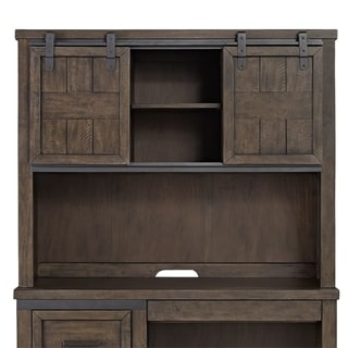 Thornwood Hills Rock Beaten Grey Double Barn Door Hutch