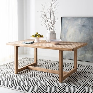 Safavieh Couture Montford Teak Dining Table -Natural - 70.8 in w x 39.3 in d x 29.9 in h